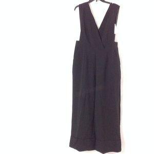 New Asos Women's Belted Jumpsuit Black Size 12